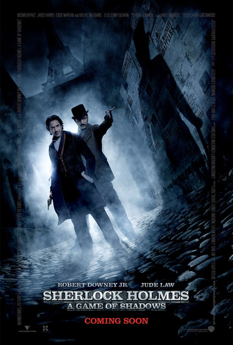 Cartel Sherlock Holmes: Juego de sombras