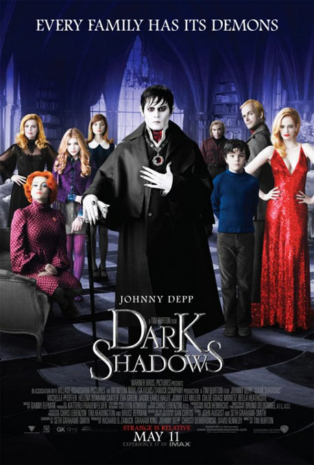 Cartel Sombras tenebrosas (Dark shadows)