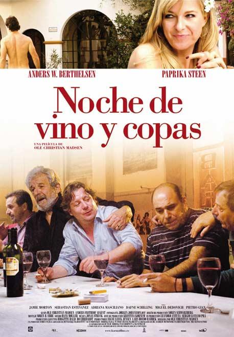 Cartel Noche de vino y copas